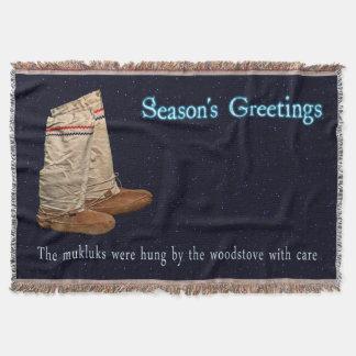 Weihnachten Mukluks Decke