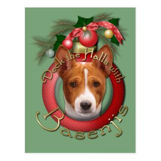 Weihnachten - Plattform die Hallen - Basenjis Postkarte