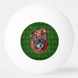 Weihnachten - Plattform die Hallen - Chihuahua - Tischtennis Ball