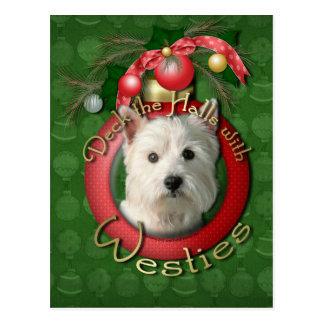 Weihnachten - Plattform die Hallen - Westies Postkarte