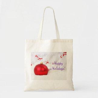 Weihnachten rot und Weiß frohe Feiertage III Einkaufstaschen