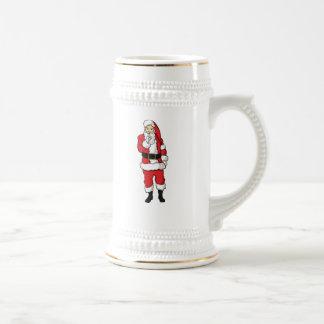 Weihnachten Weihnachtsmann Bierglas