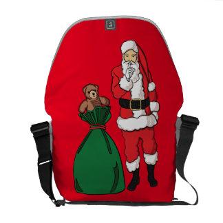 Weihnachten Weihnachtsmann Kurier Taschen