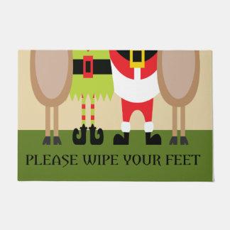 Weihnachten wischen bitte Ihre Fuß-Tür-Matte ab Türmatte