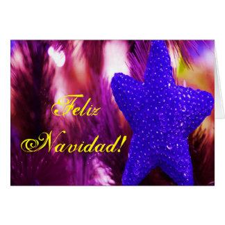 WeihnachtenFeliz Navidad blauer Stern II
