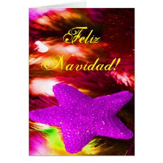 WeihnachtenFeliz Navidad lila Stern I