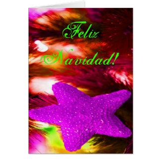 WeihnachtenFeliz Navidad lila Stern III