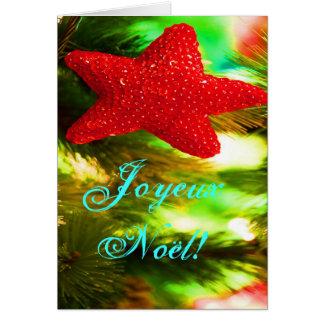 WeihnachtenJoyeux Weihnachten-roter Karten