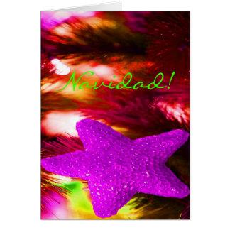 WeihnachtenNavidad lila Stern II