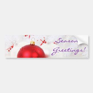 Weihnachtenroten und weißen Seaons Grüße III Autosticker