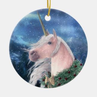 WeihnachtenUnicorn Keramik Ornament