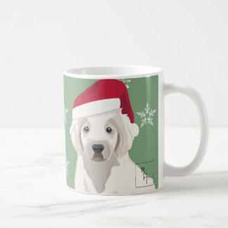 Weihnachtlicher Becher Trauriger junger Hund Tasse