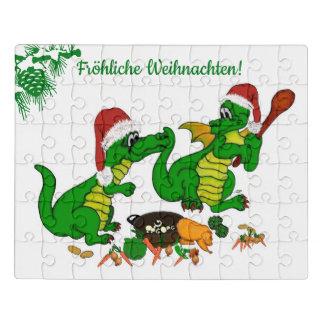 Weihnachts Drachen , auf Deutsch Puzzle