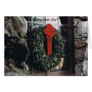 Weihnachts-oder Feiertags-Karte mit Kranz Karte