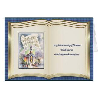 Weihnachtsabends-Masse - Buch-Art-Karte Karte