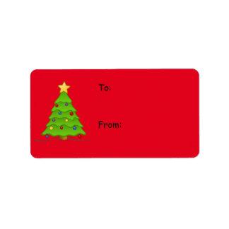 Weihnachtsaufkleber für Feriengeschenke, schaffen Adress Aufkleber