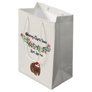 Weihnachtsaustralischer Tier-Entwurf Mittlere Geschenktüte