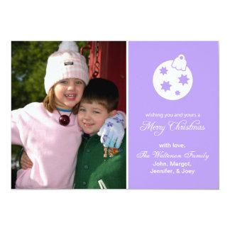 Weihnachtsball-Verzierungs-frohe Weihnachten Karte