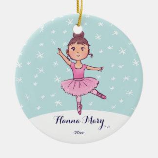 Weihnachtsballerina der keramik ornament