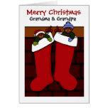 Weihnachtsbären für Großmutter und Großvater Grußkarten