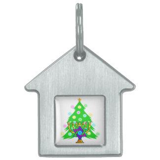 Weihnachtsbaum Chanukka Menorah Tiermarke