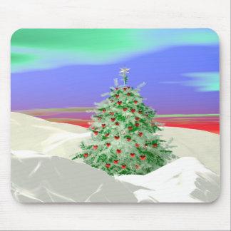 Weihnachtsbaum der Herzen Mauspad