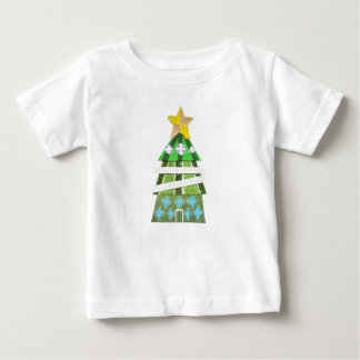 Weihnachtsbaum-Hotel kein Hintergrund-Baby-T - Baby T-shirt