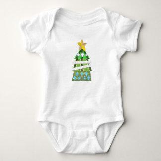Weihnachtsbaum-Hotel kein Hintergrund Babygro Baby Strampler