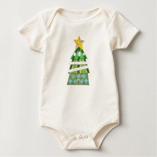 Weihnachtsbaum-Hotel kein Hintergrund Bio Babygro Baby Strampler