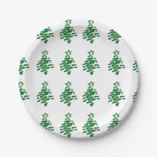 Weihnachtsbaum-Muster-Papier-Teller Pappteller