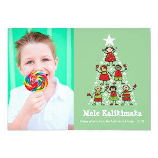 Weihnachtsbaum scherzt Foto-Weihnachtsgruß-Karte 12,7 X 17,8 Cm Einladungskarte