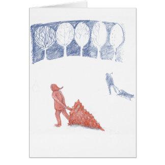 Weihnachtsbaum und sledding Hügel Karte