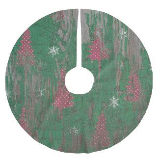 Weihnachtsbaumfeiertag des Baumrockes rustikaler Polyester Weihnachtsbaumdecke