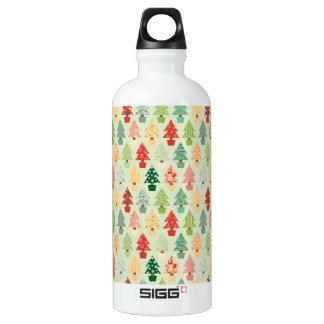 Weihnachtsbaummuster Wasserflasche