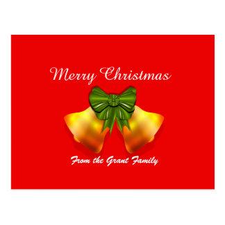 Weihnachtsbell-Bogen-Weihnachtsfeiertags-Postkarte Postkarte