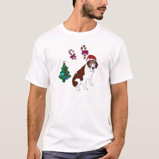 Weihnachtsbernhardiner-Hund T-Shirt