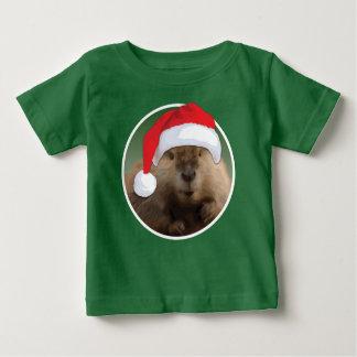 Weihnachtsbiber - Baby-feiner Jersey-T - Shirt