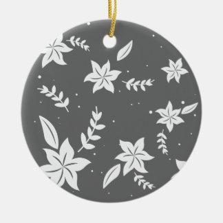 Weihnachtsblumenmuster - Weihnachtsgeschenke Rundes Keramik Ornament