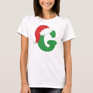 Weihnachtsbuchstabeg-Alphabet T-Shirt
