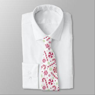 Weihnachtsc$rot-weiße und Limone grüne Bedruckte Krawatte