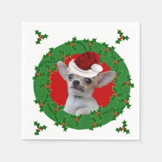 WeihnachtsChihuahua-Hund Serviette
