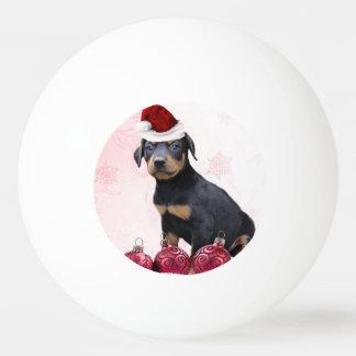 WeihnachtsdobermannPinscherhund Tischtennis Ball