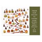 Weihnachtseinführungskalender Postkarte