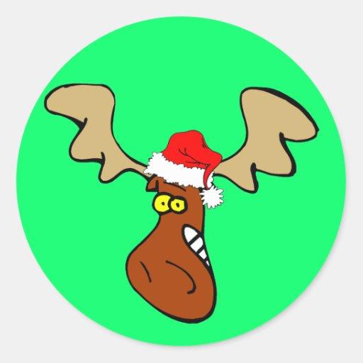 Weihnachtselche Runder Sticker