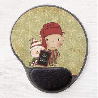 Weihnachtself Gel Mousepad