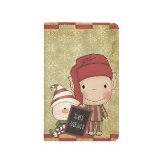 Weihnachtself Taschennotizbuch