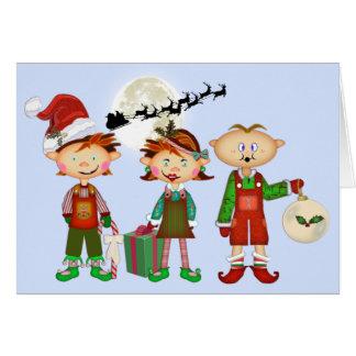 Weihnachtselfe Karte