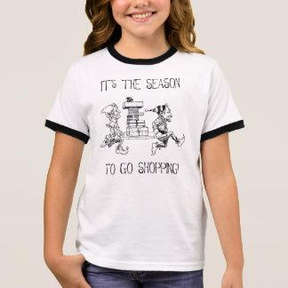 Weihnachtselfe Ringer T-Shirt