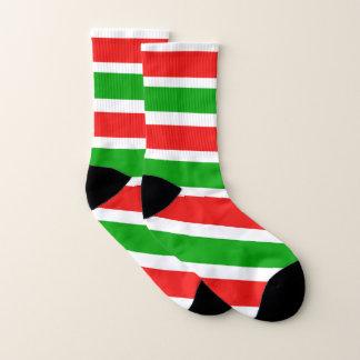 Weihnachtsfarbstreifen Socken