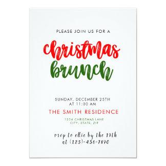 Weihnachtsfeiertags-Brunch-Einladungs-Karte Karte